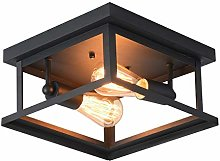 Ganeed Retro Rectangle Flush Mount Ceiling