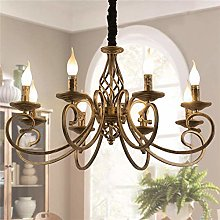 Ganeed Rustic Chandeliers,8 Lights Candle French