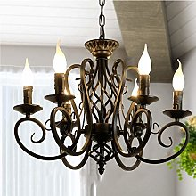 Ganeed Rustic French Country Chandelier,6 Lights
