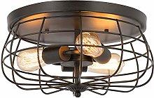 Ganeed Semi Flush Mount Ceiling Light, Industrial