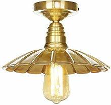 Ganeep Lotus Leaf Copper Lampshade Ceiling Lamp