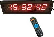 GANXIN 2.3'' High 6 Digits LED Wall Clock,