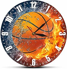 Gaojian Ice and fire basketball wall clock silent