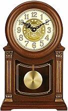 GAOJIN Pendulum Wall Clock, Silent Decorative Wood