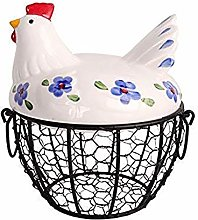 GAOLONG Farmhouse Style Black Metal Mesh Wire Egg