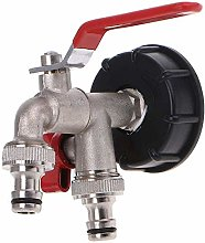 Gaoominy Double Tap 1000 Liter IBC Water Tank Tap
