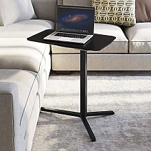 GAOXQ Steel Frame Foldable Desk with Marbled Oak