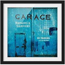 Garage Door Framed Photographic Art Print East