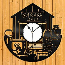 Garage Sale Vinyl Wall Clock Unique Gift for