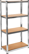 Garage shelving unit 4 tier - brown