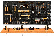 Garage Tool Rack/Organiser - Wall Mounted with 50