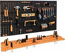 Garage Tool Rack/Organiser - Wall Mounted with 50