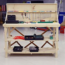 Garage Workshop Work Tool Bench Table with Back