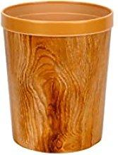 Garbage Bin for Kitchen Creative Wood Grain Trash