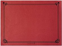 Garcia de Pou Table Mats, Cellulose, Burgundy,