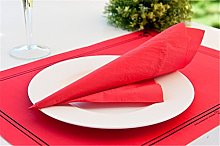 Garcia de Pou Table Mats, Cellulose, Red, 31x43 CM