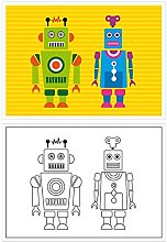 Garcia de Pou Table Mats For Colouring Robot,