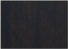 Garcia de Pou Table Mats, Kraft Ribbed, Black,