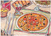 Garcia de Pou Table Mats Offset Pizza & Pasta,