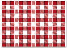 Garcia de Pou Table Mats Vichy Red, Cellulose,