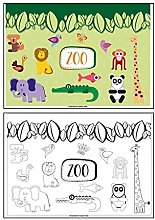Garcia de Pou Table Mats Zoo, Cellulose, Four