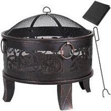 Gardebruk Fire Pit Fire Bowl Round Ø 67 cm Steel