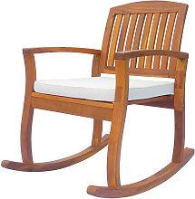 Garden Acacia Wood Rocking Chair Deck Porch Seat