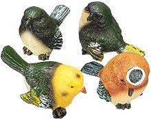 Garden Animal Statue 4 Pcs/Set Resin Birds Statue
