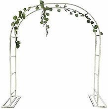 Garden Arch Heavy Duty Large White Metal Strong