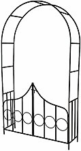 Garden arch with gate - garden arbor, metal garden
