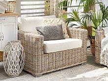 Garden Armchair Wicker Rattan Outdoor Chair with