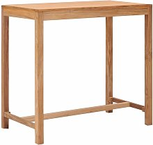 Garden Bar Table 110x60x105 cm Solid Teak Wood -