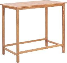 Garden Bar Table Solid Teak Wood 120x65x110 cm -