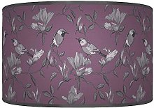 Garden Birds Purple Grey Giclee Style Printed