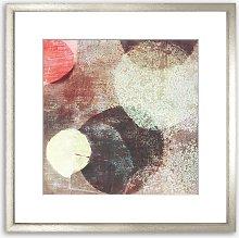 Garden Boules Abstract Wood Framed Print & Mount,