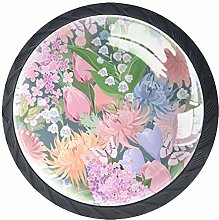 Garden Butterfly Chrysanthemum 4 Pieces Crystal