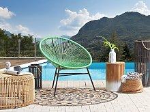 Garden Chair Green PE Rattan Papasan Modern