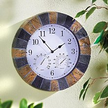 Garden Clock in Slate-Effect by Coopers of