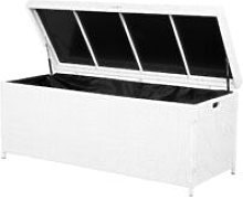 Garden Deck PE Rattan Storage Box White 158 x 63