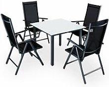 Garden Dining Table Chairs Furniture Set Aluminum