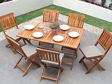 Garden Dining Table Dark Acacia Wood 140 x 75 cm
