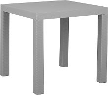 Garden Dining Table for 4 Outdoor Light Grey