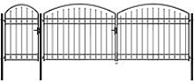 Garden Fence Gate with Arched Top Steel 1.75x5 m
