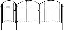 Garden Fence Gate with Arched Top Steel 2.25x4 m