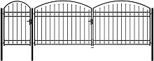 Garden Fence Gate with Arched Top Steel 2x5 m