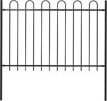 Garden Fence with Hoop Top Steel 1.7x1.2 m