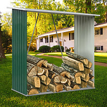 Garden Firewood Log Shed Storage Stand Tool House,