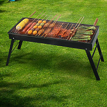 Garden Foldable BBQ Charcoal Grill Outdoor Picnic