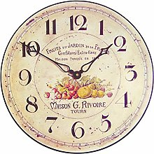 Garden Fruits Wall Clock - 36cm