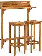 Garden Furniture Set Wooden, Balcony Bar Set